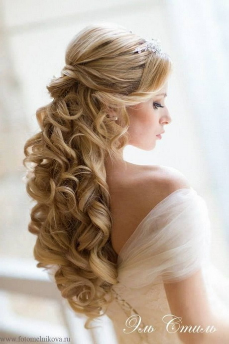 Wedding hairstyles half up half down curly 2014 wedding