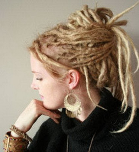 Hairstyles For Long Hair Locks : Updo Dreadlock Hairstyle