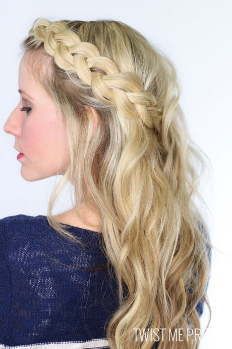 Dutch flower braid from the front