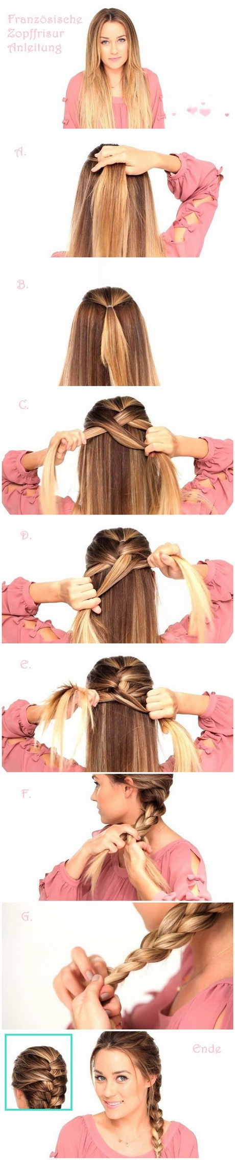 Easy Braided Hairstyles Tutorials: Trendy Hairstyle for Straight Long