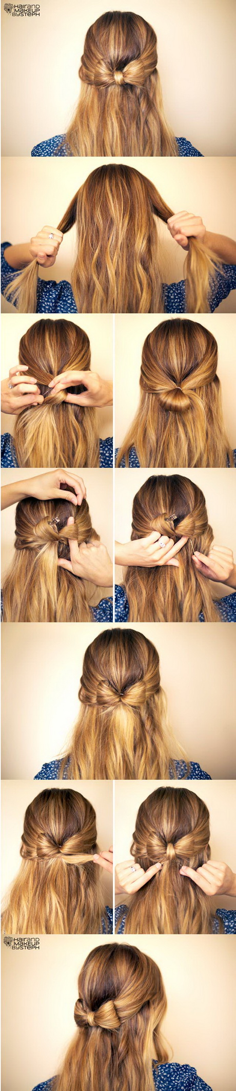 Easy step by step hairstyles for long hair