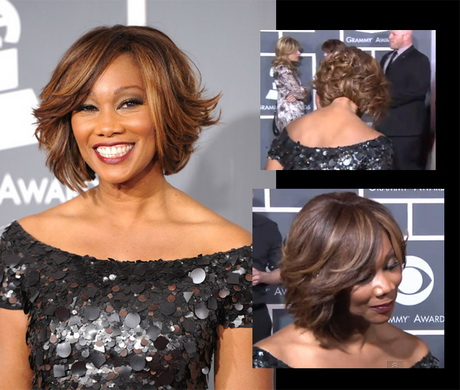 feathered bob hairstyle african american …