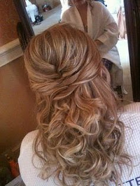 prom hairstyles medium hair : Formal Hairstyles for Medium Hair Wedding Hair half up style with ...