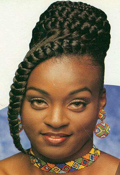 Goddess Braids: These are large inverted braid designed to lay flat on