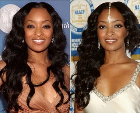Black wavy hair extensions