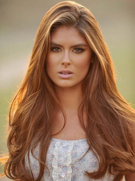 Nice and beauty of brown hairstyle for long hair 2014 ideas wallpaper ...
