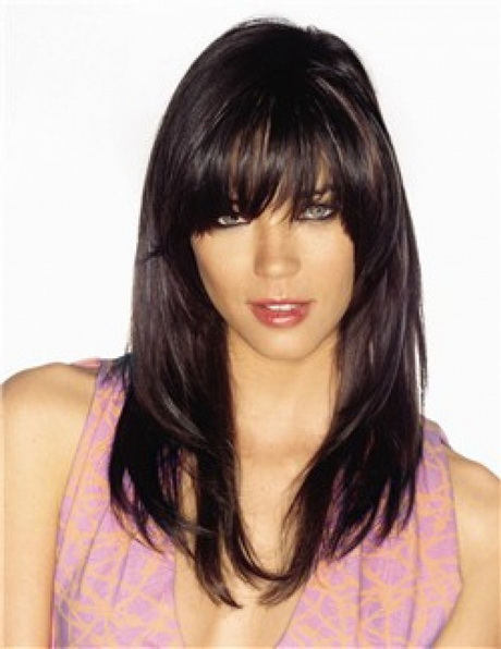 Haircuts for long hair with fringe