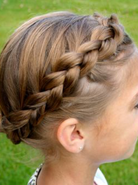 Hairstyles For Long Hair Little Girl : Braided headband hairstyles on little girls