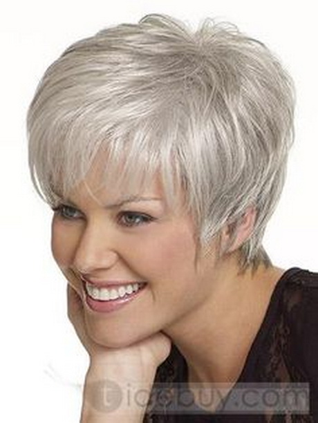 short grey hairstyles for women | Beautiful Short Straight Grey 5quot ...