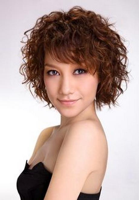 Short Hair Curly Perm Hairstyles