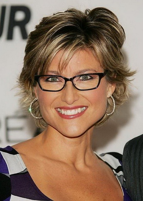 short thick highlight hairstyles with glasses …