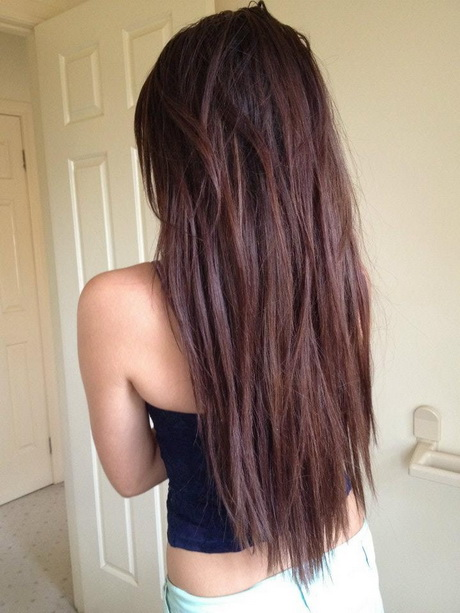 long and straight hair cut she has an increased layered form with