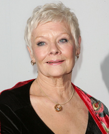 ... dench. Dame Judi works with her hair\'s natural texture and colour
