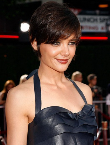 katie holmes pixie haircut short hairstyles 2014