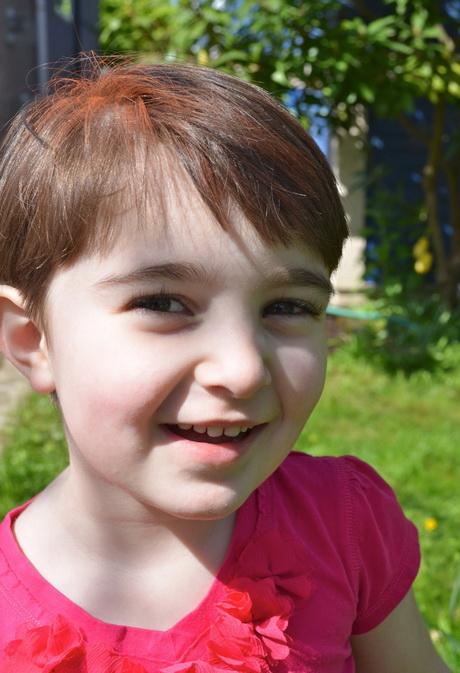 Little Girl Long Pixie Cut