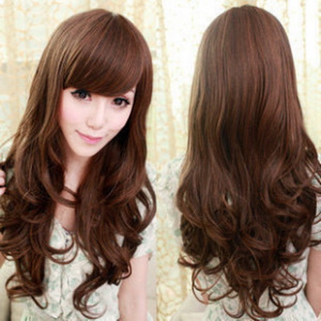 Korean Curly Hairstyle