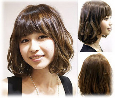 Korean medium hairstyle