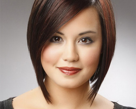 Short haircuts for round chubby faces 2014