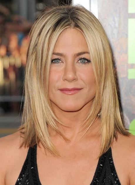pics Jennifer Aniston Easy Medium Hairstyle for Straight Hair