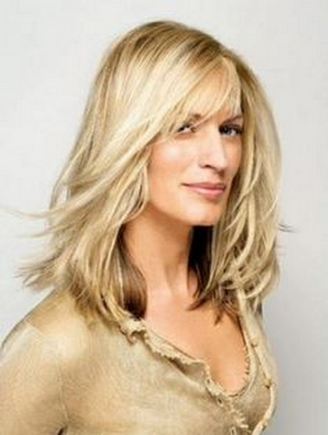 Feathered Layered Long Blonde Hairstyle short haircuts hair colors 40s ...