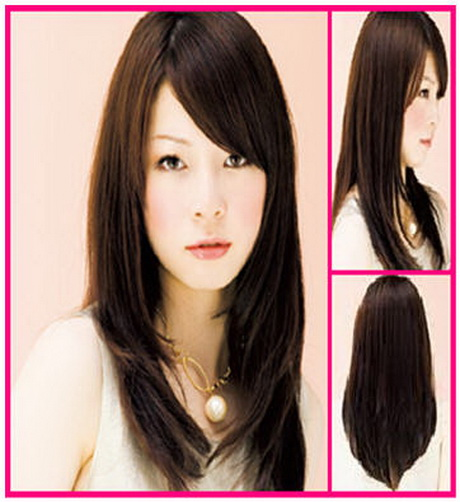 layered haircuts for long hair with side bangs