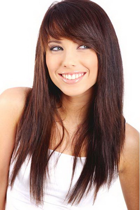Layered Haircuts With Side Fringe