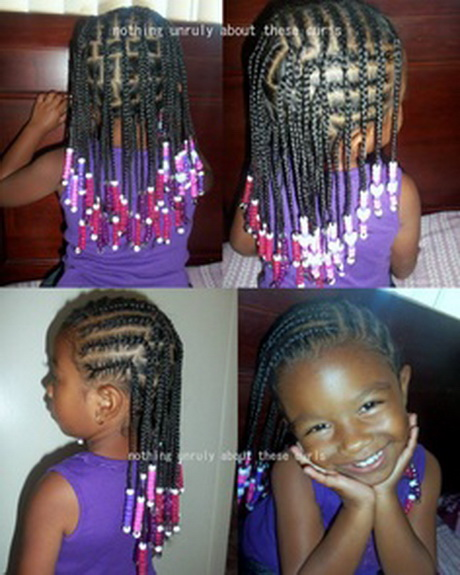 African American Braided Hairstyle Girls
