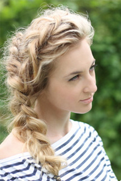 how to make curly hair wavy with braids