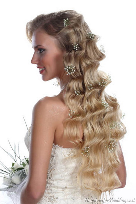 long curly hairstyles for weddings. Black Bedroom Furniture Sets. Home Design Ideas