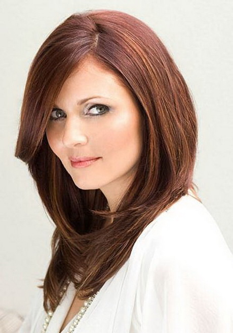 Hairstyles For Long Hair Round Face : Long hair layered haircuts for round faces