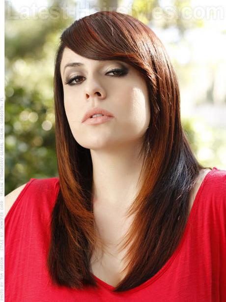 Long Layered Haircuts With Side Bangs