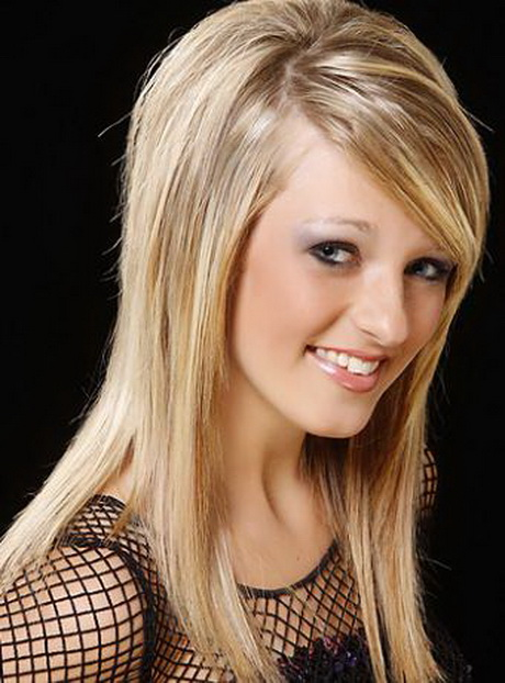 Hairstyles with side swept bangs for long hair 81814147