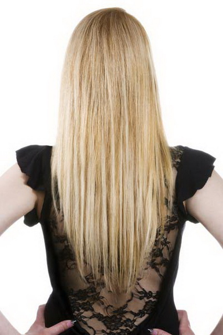 Long Layered V Shaped Haircut