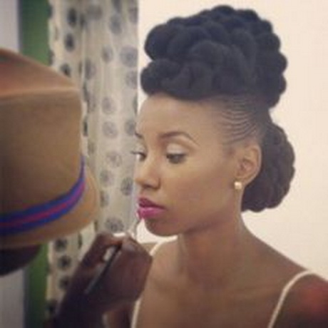 is a great formal natural hair style. Create this look with Marley