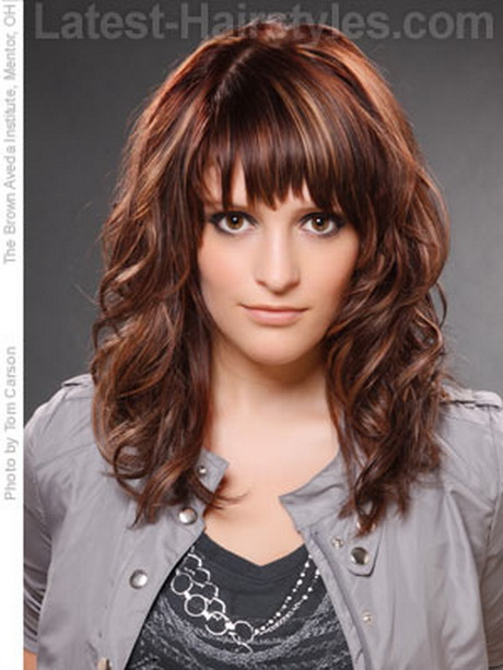 Wavy Choppy Hairstyles : Choppy hairstyle with a bang haircuts hairstyles and hair