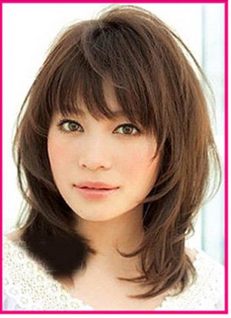 length hairstyles for oval face styles layered bang feather cut equal ...
