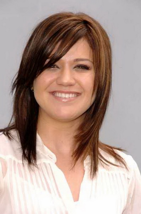 medium length hairstyles with side fringe medium haircuts with side swept bangs