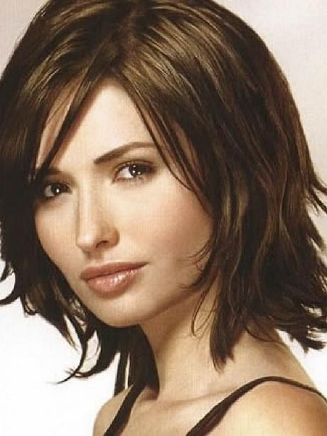 Hairstyles Medium Length With Bangs : Medium length haircuts with bangs 2015