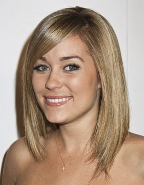 Medium Length Haircuts With Side Swept Bangs
