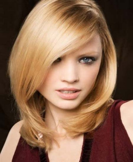 Side Swept Face And Haircuts: Medium Length Haircuts With Side Swept Bangs
