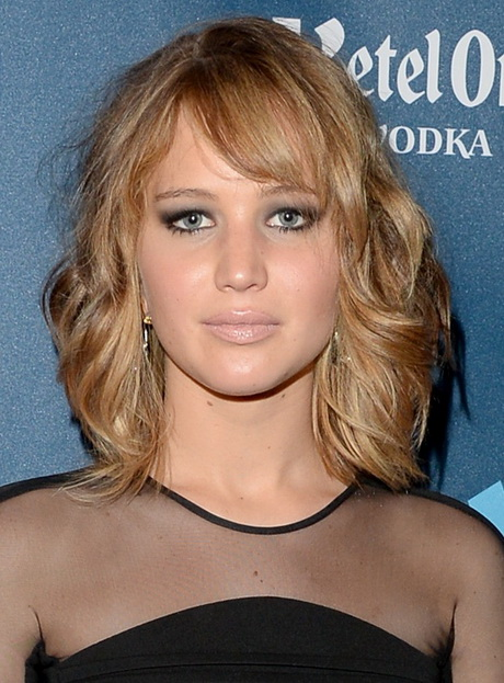 Shoulder Length Hairstyles For A Round Face Shape : Hairstyles with bangs for heart shaped faces short