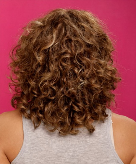 Medium haircut curly hair