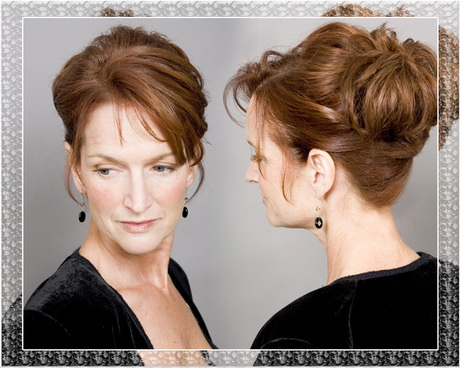 Hairstyles for the mother of the groom in a wedding 2