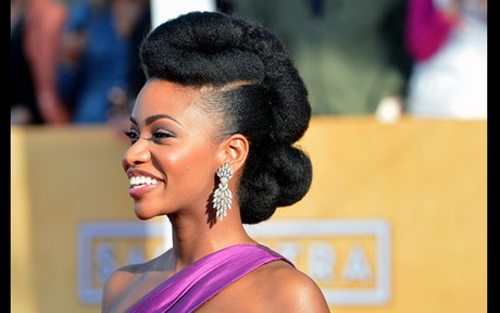 natural hairstyles buns : Natural prom hairstyles