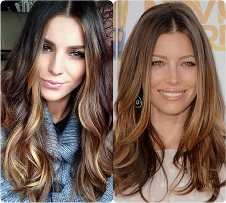 highlights with a rich mocha hair color for 2015 hair color trends