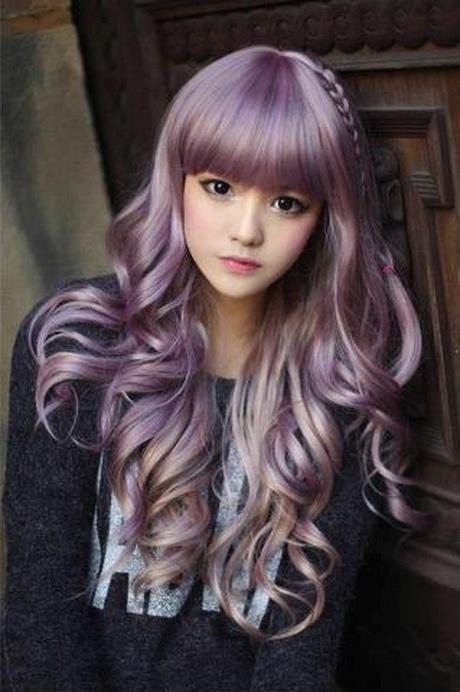 Девушка с двойным цветом волос