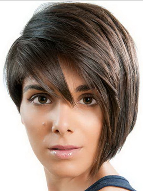 Medium Short Hairstyle. The rich bangs on this haircut look fabulous