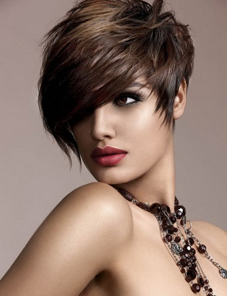 Keep the hair at the back extremely short. Part hair on one side and