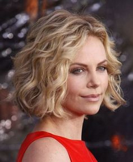 Spiral Perm Short Hair | Charlize Theron Short Spiral Curls Hairstyles ...