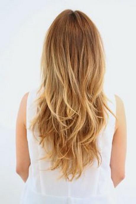 Medium long layered hairstyles back view